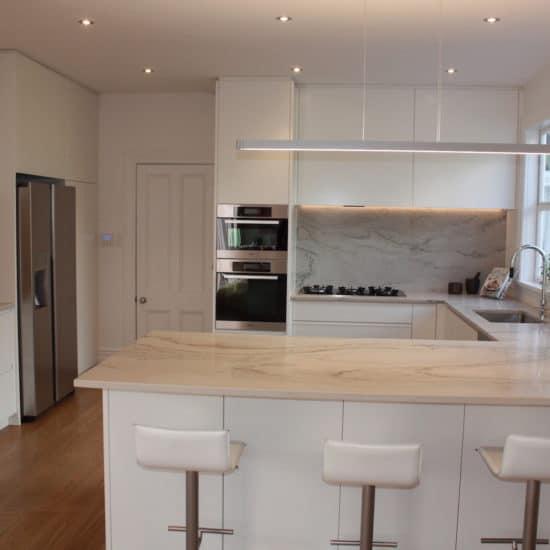 A Minimalist White Kitchen